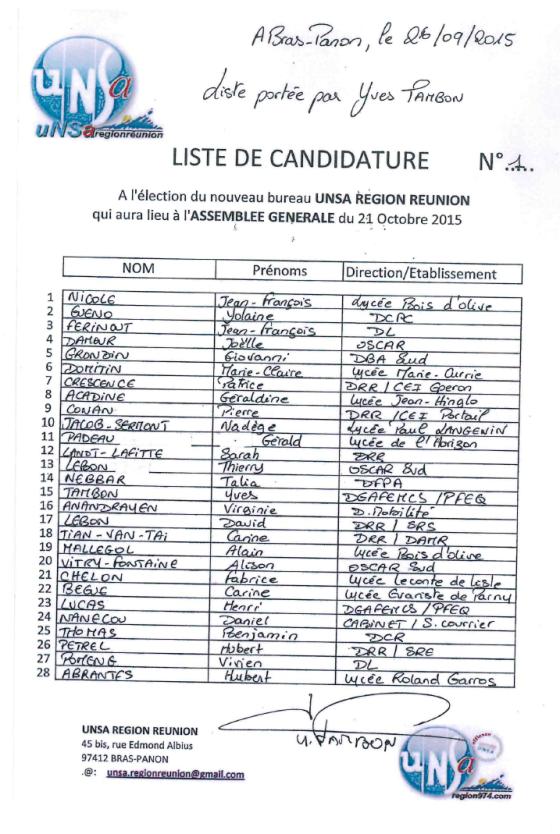Liste bureau 2015 URR